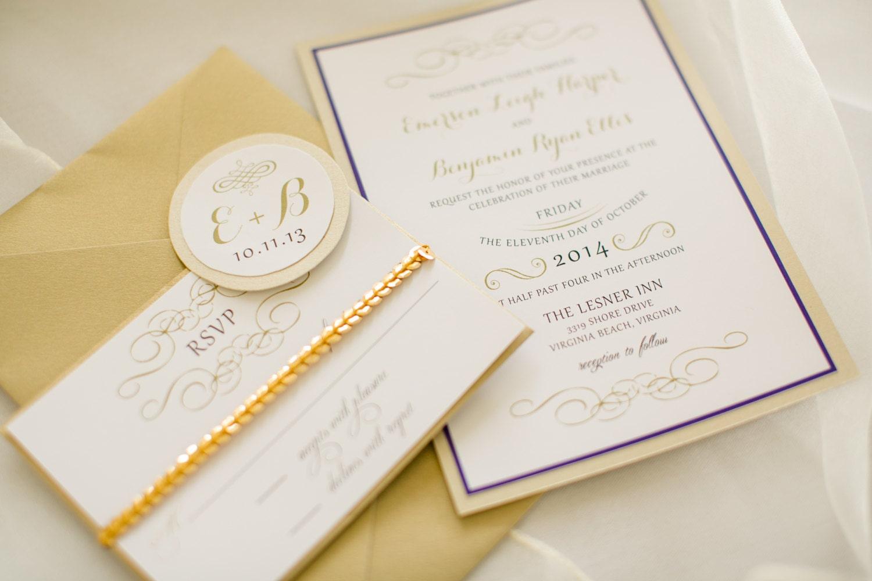 Fancy Wedding Invitations: Formal Elegant Wedding Invitation Suite