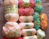 "Knitting yarn "" Bernat Baby Sport, Baby Jacquards florals, Bernat Baby and Caron"""