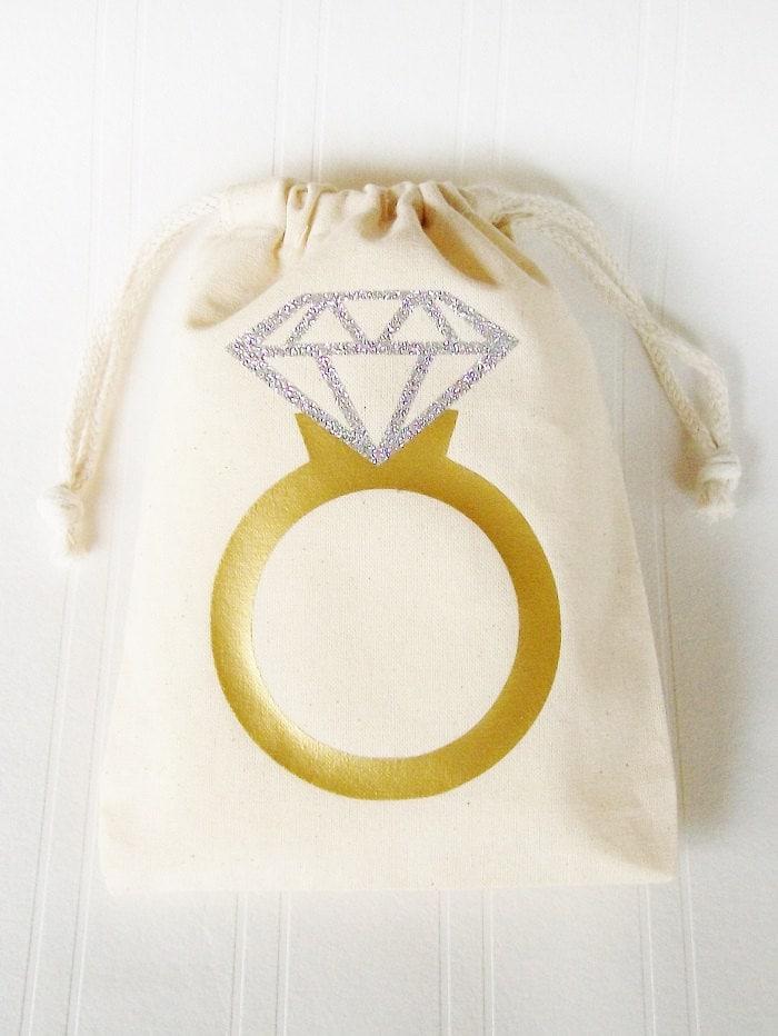 ring favor favor bag wedding ring custom gift