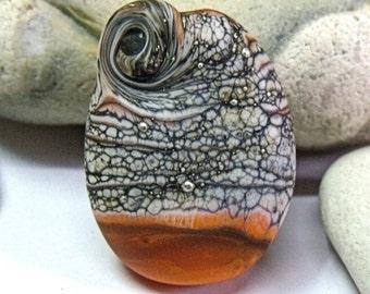 Stavor Coral, Lampwork Focal Bead, SRA, UK