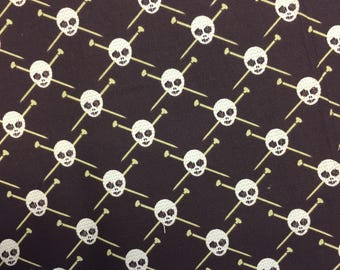 Knitting Skulls (Discontinued Fabric) - By The Yard