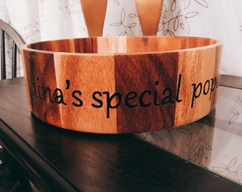 Popcorn Bowl - Personalized