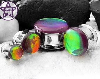 "Chromatic Death Purple Rainbow Colour-Flash Plug / Gauge ONE Plug Only 1/2"" 9/16"" 5/8"" 11/16"" / 12mm 13mm 14mm 16mm 18mm"