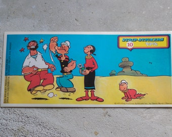 Vintage Popeye Sticker 1975 // Collectable Decal