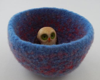 felted wool bowl container jewelry holder desktop storage