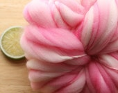 Bubble Gum - Handspun Wool Yarn Pink Superwash Thick and Thin
