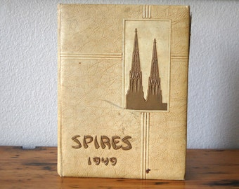 Vintage Spires Cathedral High School New York 1949 Yearbook Vintage School Yearbook Washington DC Memorabilia from The Eclectic Interior