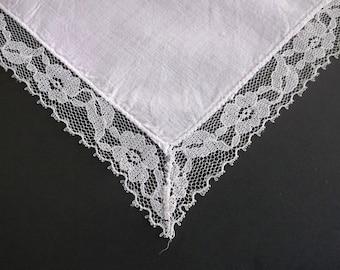 Lace Hankie, Lace Handkerchief, Linen Hankie, Bridal Handkerchief, Vintage Hankie, Wedding Hankie, Wedding Handkerchief, All Vintage Hankies
