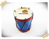 Drum Piggy Bank with Key