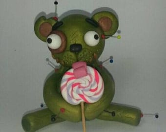 Master Catlick the Bear. Voodoo Doll. Hand Sculpted polymer clay figurine