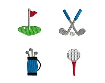 Mini Golf Embroidery Designs for Machine Embroidery-INSTANT DOWNLOAD