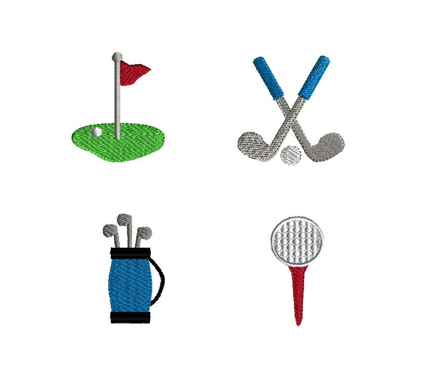 Mini Golf Embroidery Designs For Machine Embroidery-INSTANT