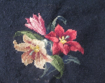 Petit point tapestry remnant ~ upholster your cricket
