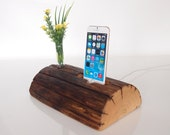iPhone Dock plus Vase holder  - charging station - docking station - iPhone 5 charging, iPhone 6 charging (Unique gift)