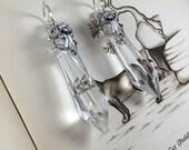 Dark Crystal Dangles (dangle plugs, plug weights, body jewelry, stretching earrings, gauges, ear weights)