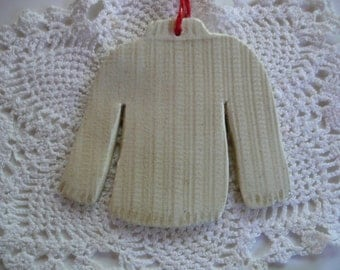 Sweater Christmas Ornaments - Knitted Pullover