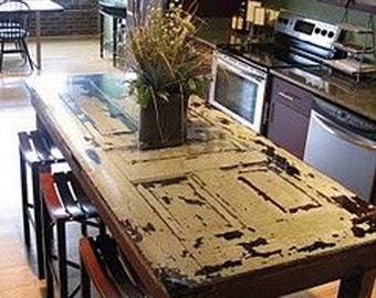 Repurposed Wood Door Table / Desk By Foo Foo La La