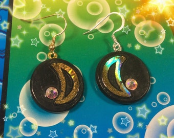 Sailor Moon Inspired Crescent Moon Earrings - Anime Jewelry