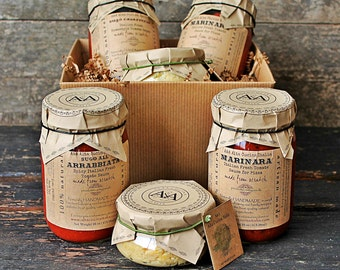 Italian Gourmet Gift Basket- Gift Set- Edible Set-Hostess Gift