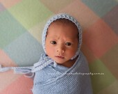 Newborn Hat, Classic Bonnet, Blue, Light Blue, Mint, Photo Prop, Choose Your Color