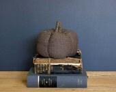Tweed Fabric Pumpkin, Fall Decor, Hostess Gift, Autumn Decor, Library Decor, Fall Fireplace Decor, Vintage Decor, British Decor