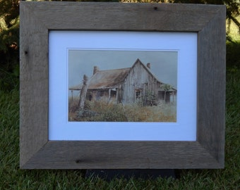 Barnwood Frame with photo of an old rustic building
