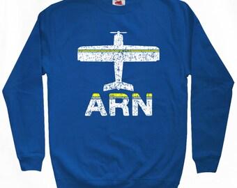 Fly Stockholm Sweatshirt - ARN Airport - Men S M L XL 2x 3x - Stockholm Sweden Shirt - 2 Colors