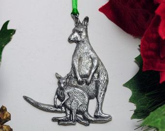 Mother Kangaroo and Joey Christmas Ornament