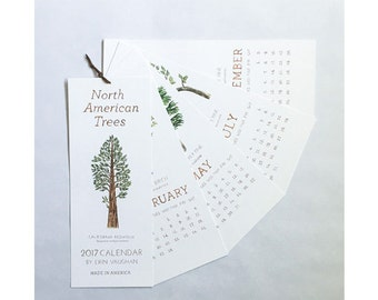 North American Trees 2017 Calendar
