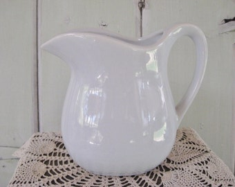 Pitcher Vintage Milk or Water Pitcher Light Blue McCoy USA 365 Kitchen Serving Collectible Decor Kitchen Accessory