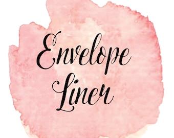 Printable Envelope Liner