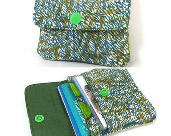 Porte-cartes 2 compartiments N5 en tissu wax