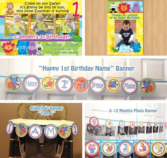 Safari friends birthday party package invite thank you birthday il570xn filmwisefo