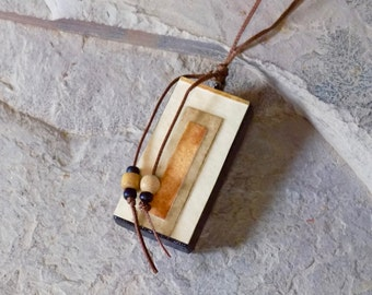 Elegant Rectangles - Wearable Art Necklace