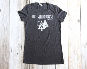 Women Wilderness Awaits Long and Lean T-shirt, Womens clothing, Womens apparel
