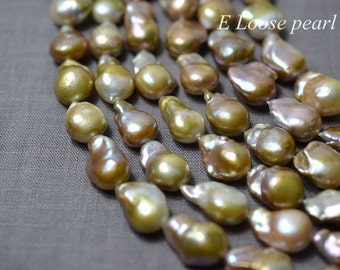 luster Nucleated Pearl 12-13mm Necklace pearl Edison Pearl Natural mauve earring bead Freshwater Pearl Loose pearl 10pcs Half strand PL4283
