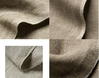 natural linen in different qualities