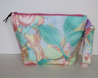 Cosmetic Bag, Pencil Case, Travel Bag,  Pastel Colors, Zipper Top, Water Resistant Lining, Detachable Strap, Ready To Ship