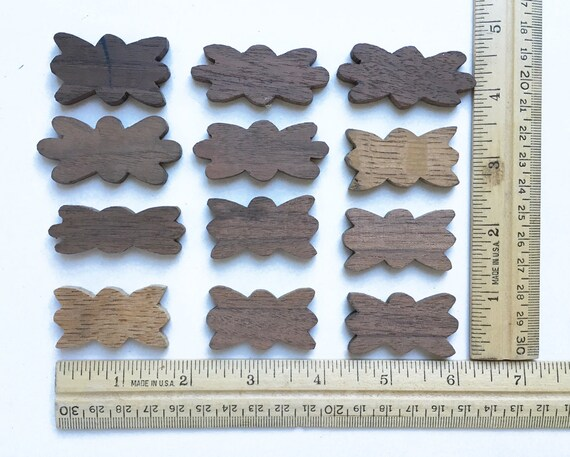 Basket Making Supplies New York : Pair small floral wood blanks flower shaped supply