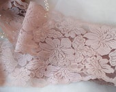 nude pink lace trimming, japan lace trim with vintage floral