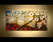 "Original 48"" Kissed by the Sun for Love - Peaceful Painting Oil Palette Knife texture Modern style, luxury looks, thick layers"
