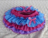 Beautiful Parley Ray Spring All Around Ruffle Skirt Ruffled Baby Bloomers Blue, Pink & Purple