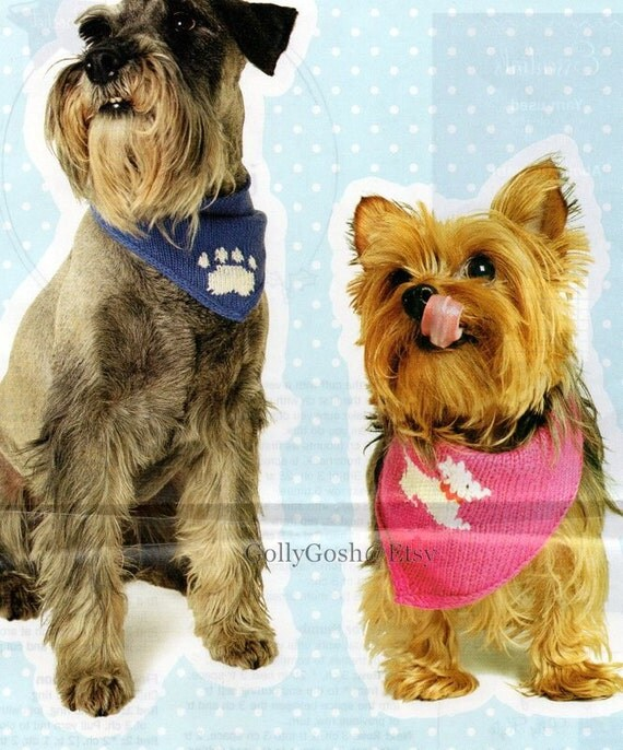 PDF Knitting Pattern for a Dog Scarf/Bandana in 2 Styles ...