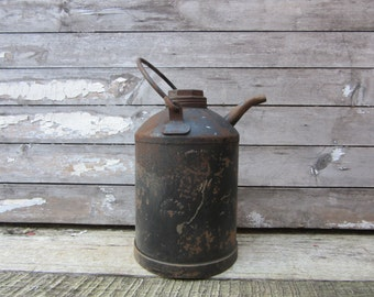 Antique Metal Oil Can or Watering Can B&0 RR B and O Railroad Baltimore Ohio Rail Road Train Can Industrial Decor Piece Early Industrial