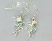 Peter Pan and Tinkerbelle Neverland Earrings in Solid Sterling Silver