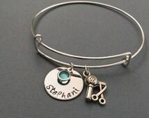 Hair Stylist Bracelet, Personalized Bracelet, Hair Stylist Gift, Hair Dresser Jewelry,  Personalized Necklace Adjustable Bracelet
