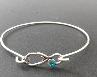 Stethoscope Bracelet,Doctor Gift,Medical Gift,Stethoscope Bracelet With Choice Of Birthstone,RN Charm,Nurse Jewelry,Gift For Nurse Or Doctor