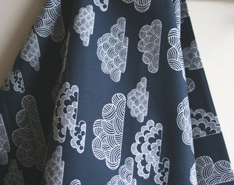 Organic Nimbus CANVAS Fabric in Navy from First LightCollection for Cloud 9 Fabrics - One HALF YARD Cut