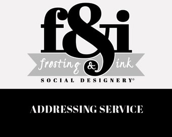 Address Printing Service - Add On Only - Professionally Printed Invitations & Address Labels