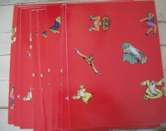 Vintage Wrapping Paper Sheets Book Covers